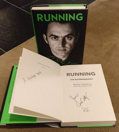 Running - Signed by Ronnie O Sullivan