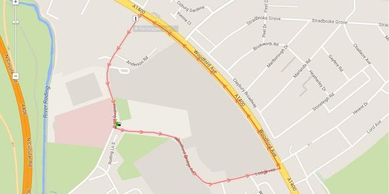 TK 10K Challenge 2017 route