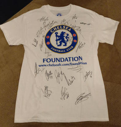 signed chelsea shirt