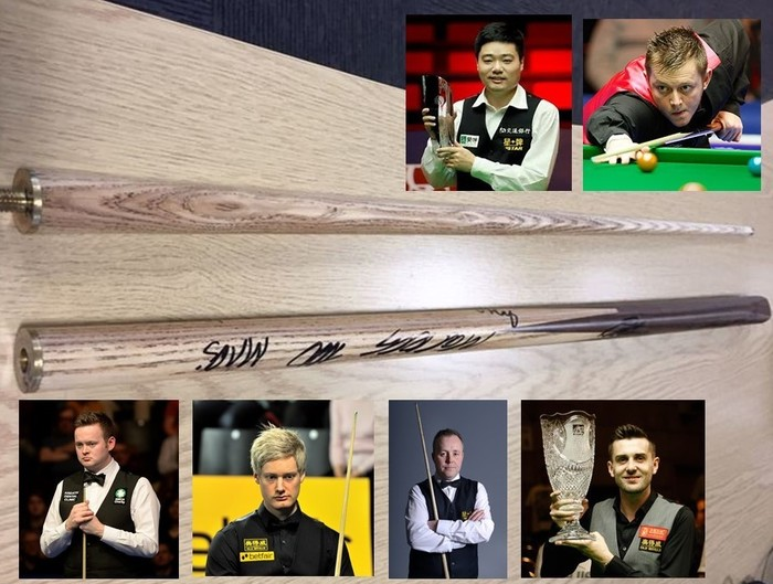 signed snooker cue